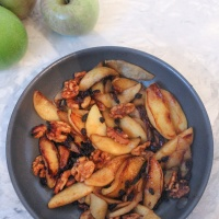 Walnut & Currant Fried Apples